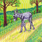 Léon petit âne gris - ill2